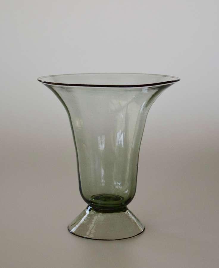 Smokey Murano vase