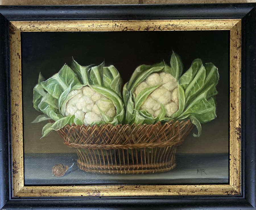 Cauliflowers in a basket