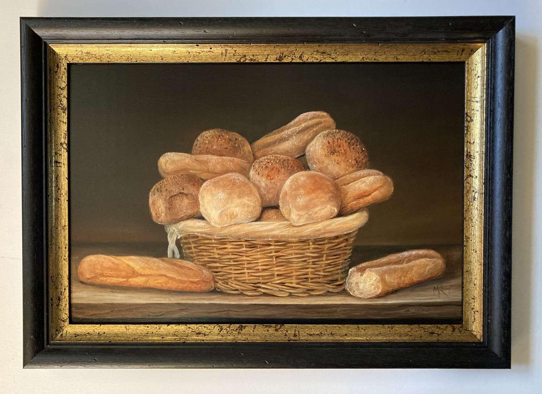 Basket of bread.