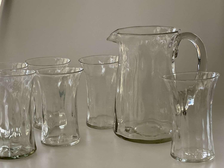 Webb jug and 6 glasses