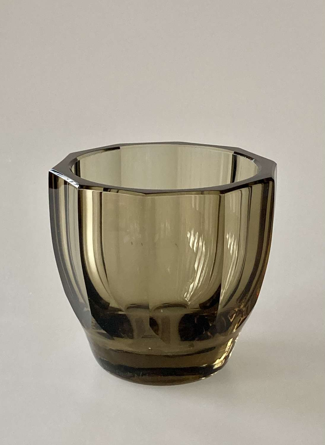 Daum art deco faceted vase