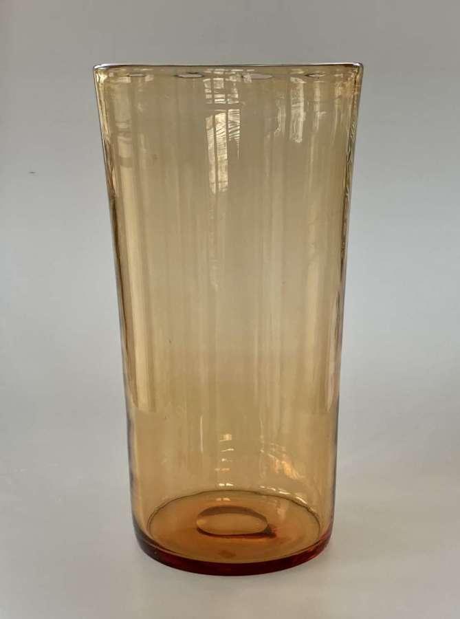 Amber bucket vase