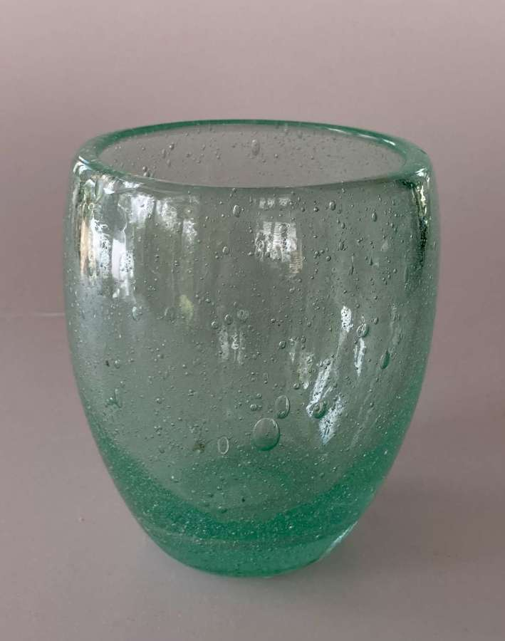Green bubble vase