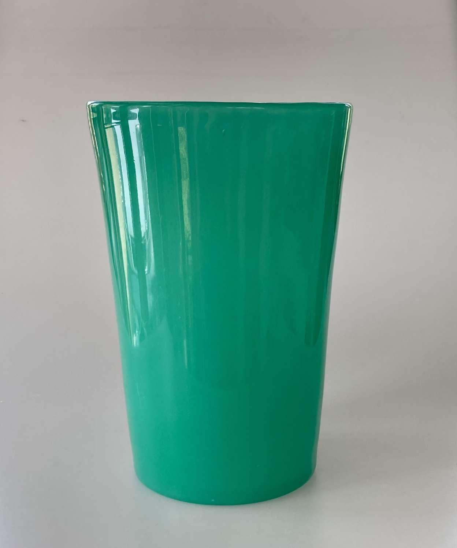 Green bucket vase