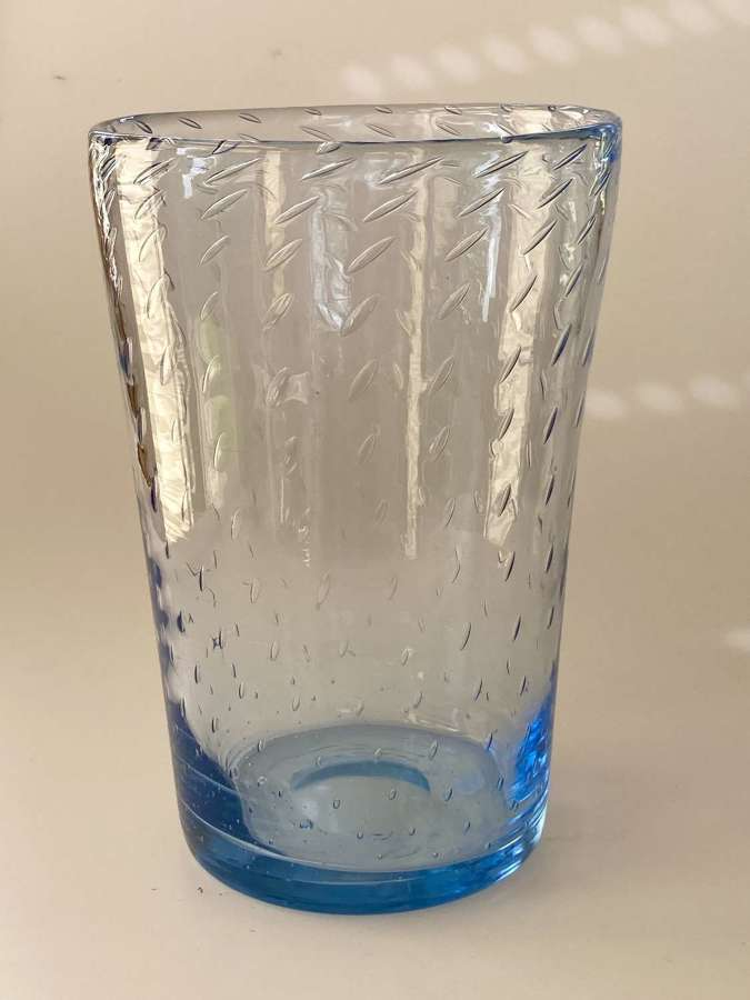 Sapphire blue bubble vase