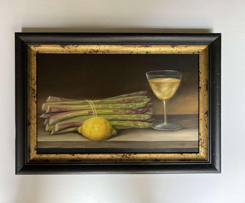 Asparagus , lemon and wine
