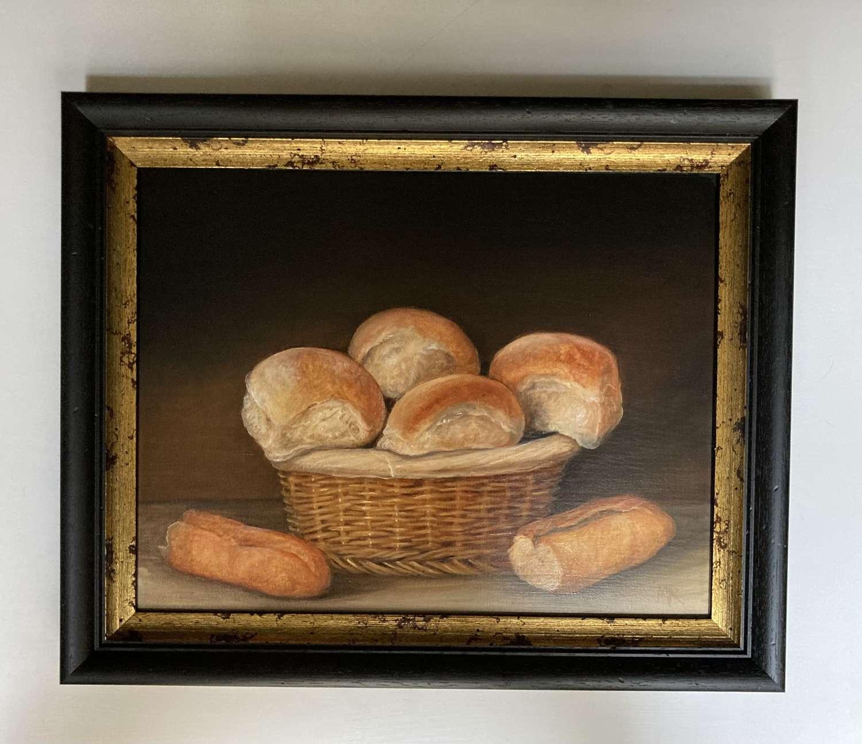 Basket of bread rolls
